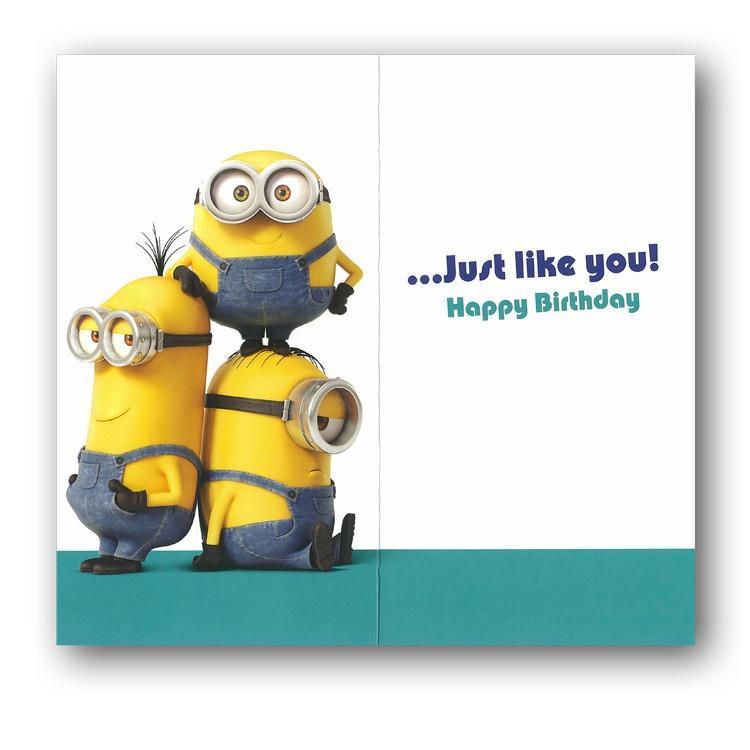 Minions Birthday Card Printable  Minon Birthday Card Son Dormouse Cards