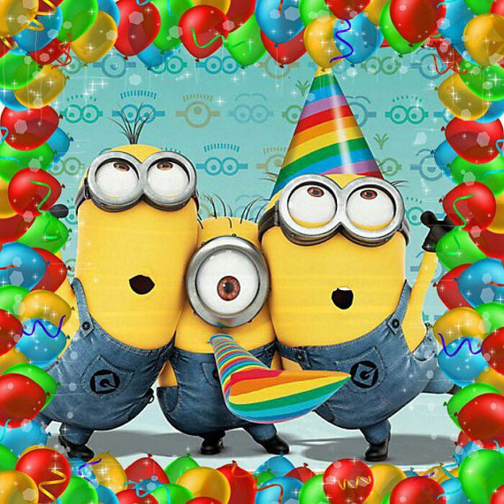 Minions Birthday Card Printable  MINION Happy Birthday Card Minion Movie Instant Download