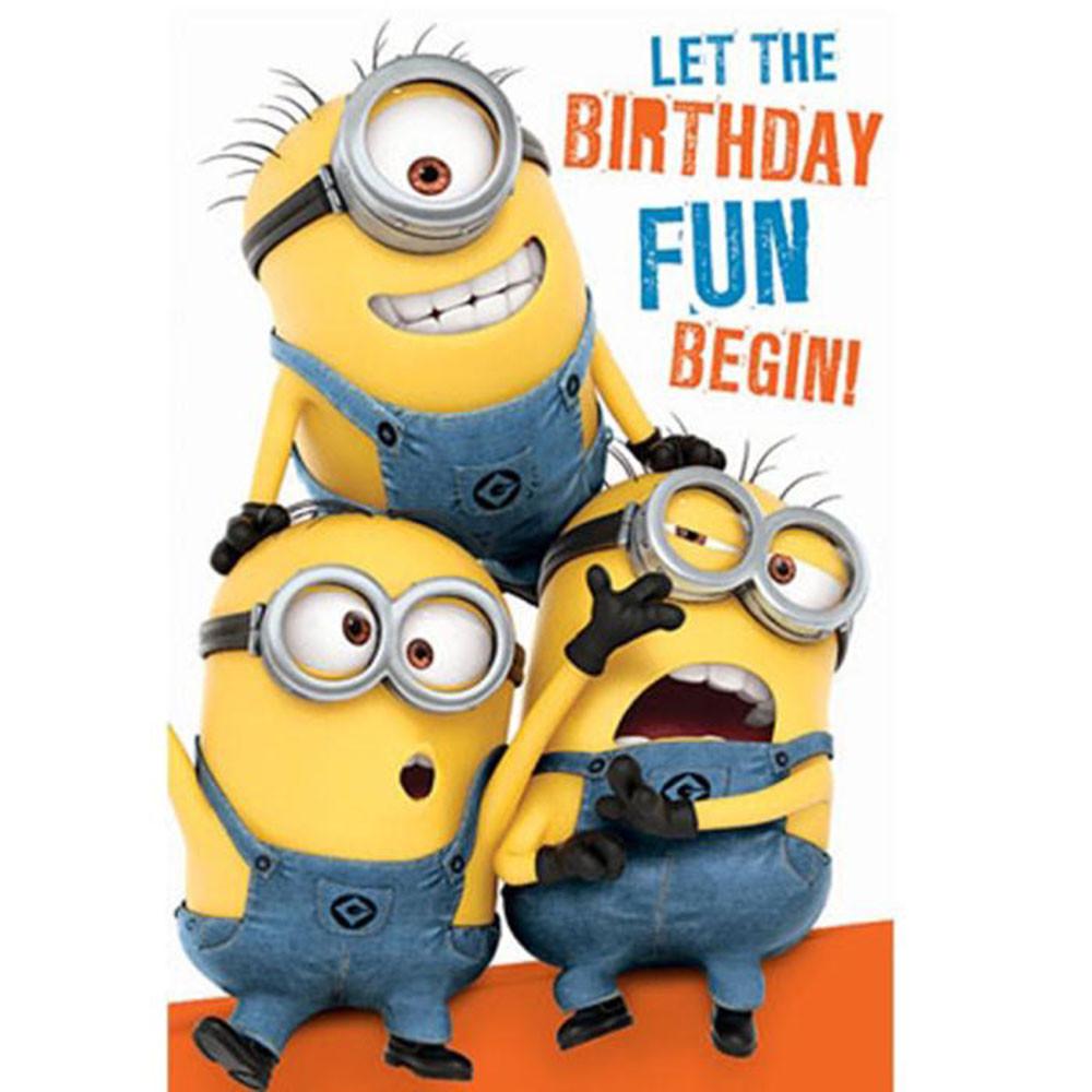 Minions Birthday Card Printable  Birthday Fun Minions Birthday Card With Door Hanger