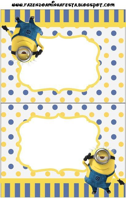 Minions Birthday Card Printable  Inspired in Minions Party Invitations Free Printables