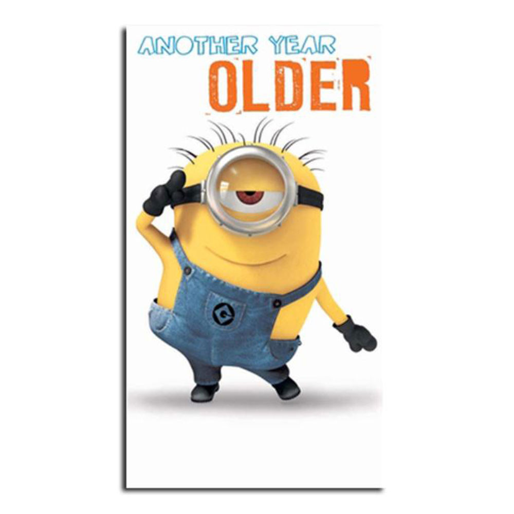 Minions Birthday Card Printable  Another Year Older Minions Birthday Card