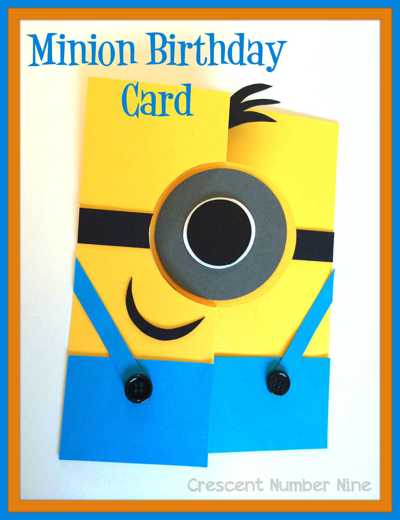 Minions Birthday Card Printable  Minions