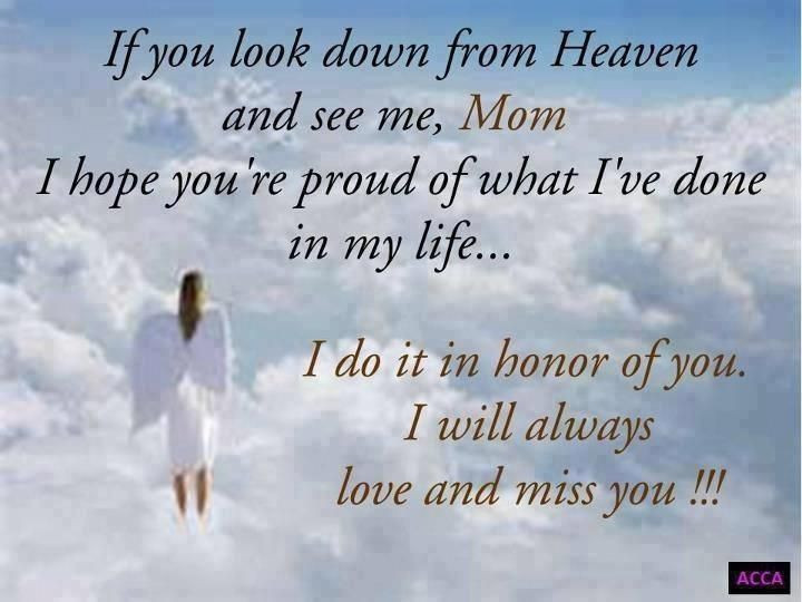 Missing My Mother Quotes  Missing Mother In Heaven Quotes