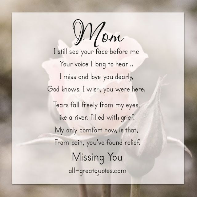Missing My Mother Quotes  39 Missing My Mom In Heaven Quotes This Roses is for My