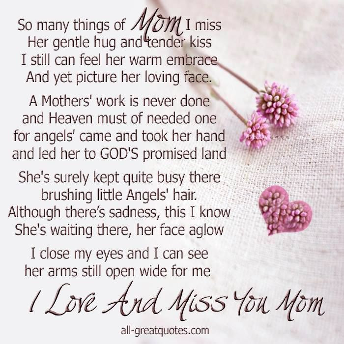 Missing My Mother Quotes  I Miss You Mom Quotes QuotesGram