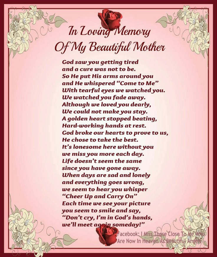 Missing My Mother Quotes  Mother In Law In Heaven Quotes Missing QuotesGram