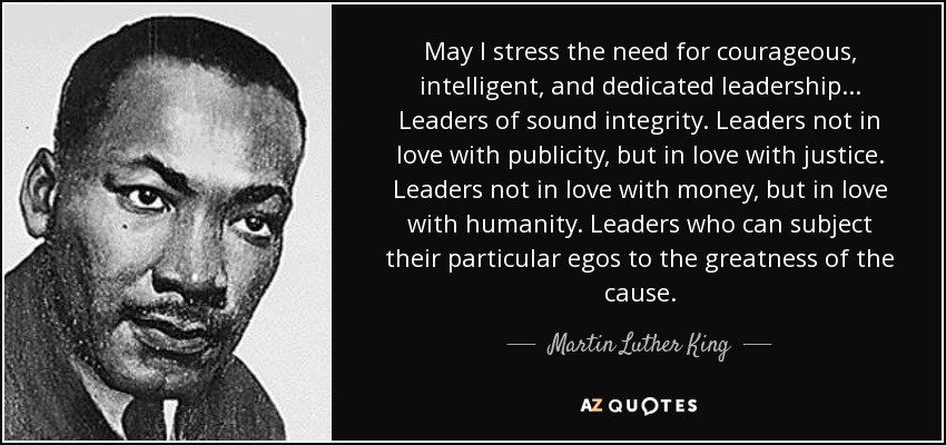 Mlk Quotes Leadership  TOP 25 QUOTES BY MARTIN LUTHER KING JR of 1205
