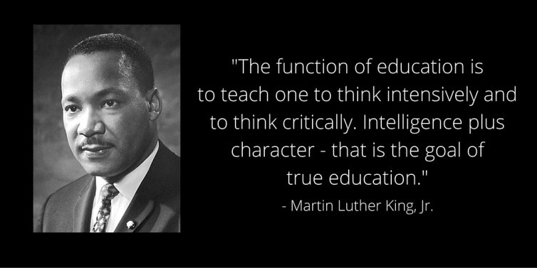 Mlk Quotes On Education  MLK Day A Focus on Education and a Better Tomorrow