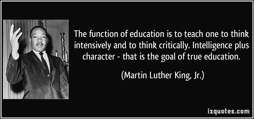 Mlk Quotes On Education  Dr Martin Luther King Jr Quotes QuotesGram