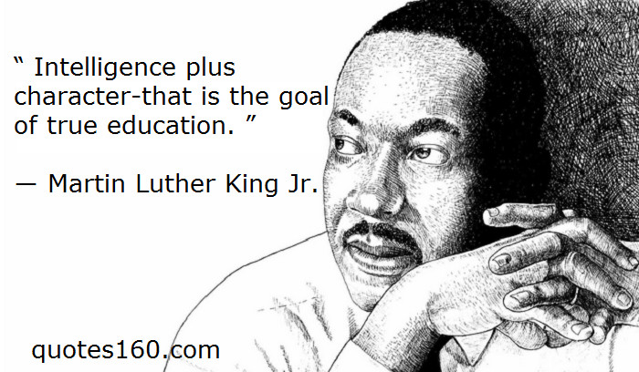 Mlk Quotes On Education  Martin Luther King Education Quotes Inspirational QuotesGram