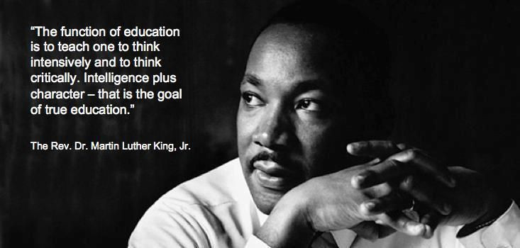 Mlk Quotes On Education  The Function Education Mlk Quotes QuotesGram