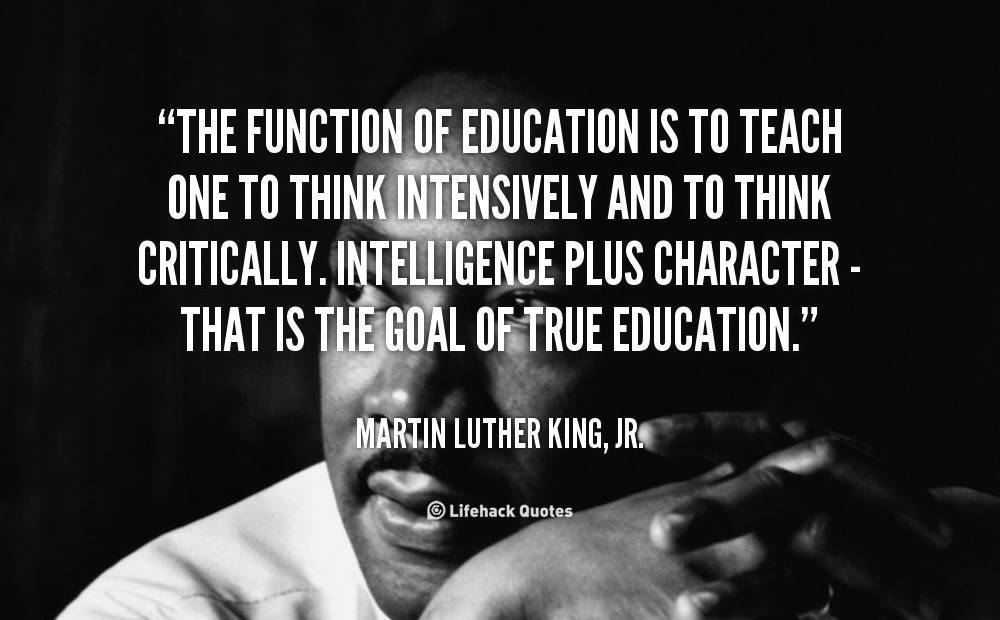 Mlk Quotes On Education  Martin Luther King Jr Quotes Education QuotesGram