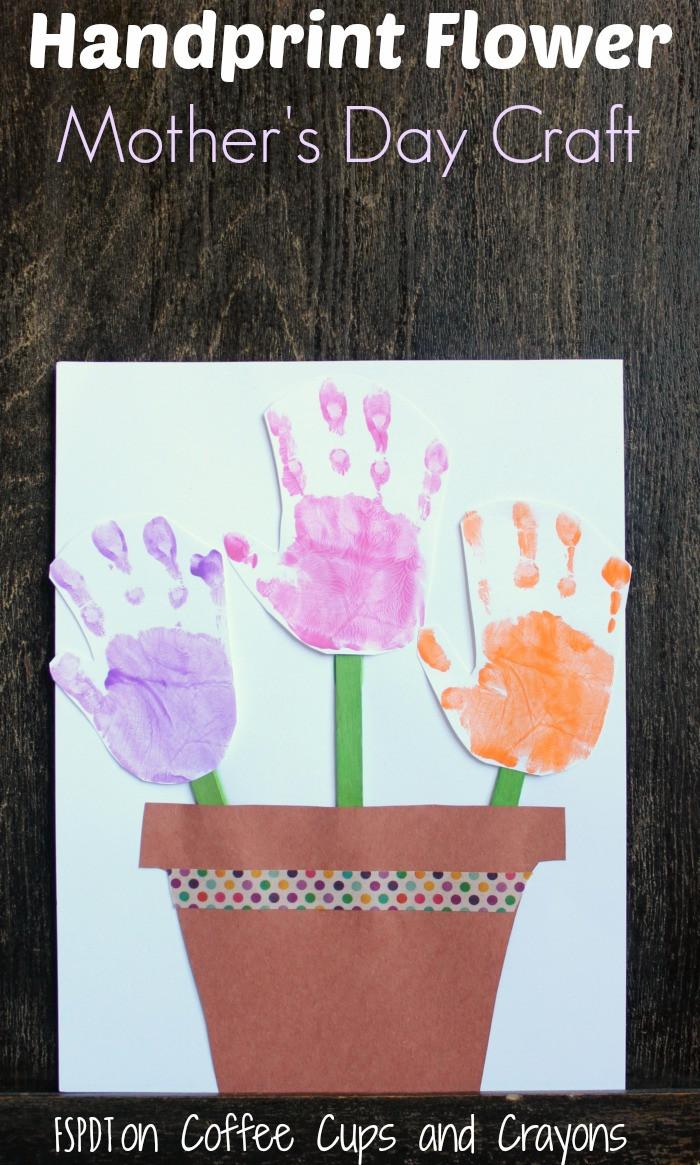 Mother Day Craft Ideas For Preschoolers  Handprint Flower Pot Craft