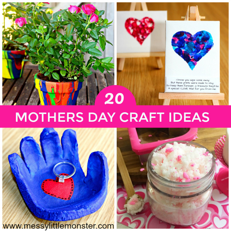 Mother Day Craft Ideas For Preschoolers  Mothers Day Craft Ideas Messy Little Monster