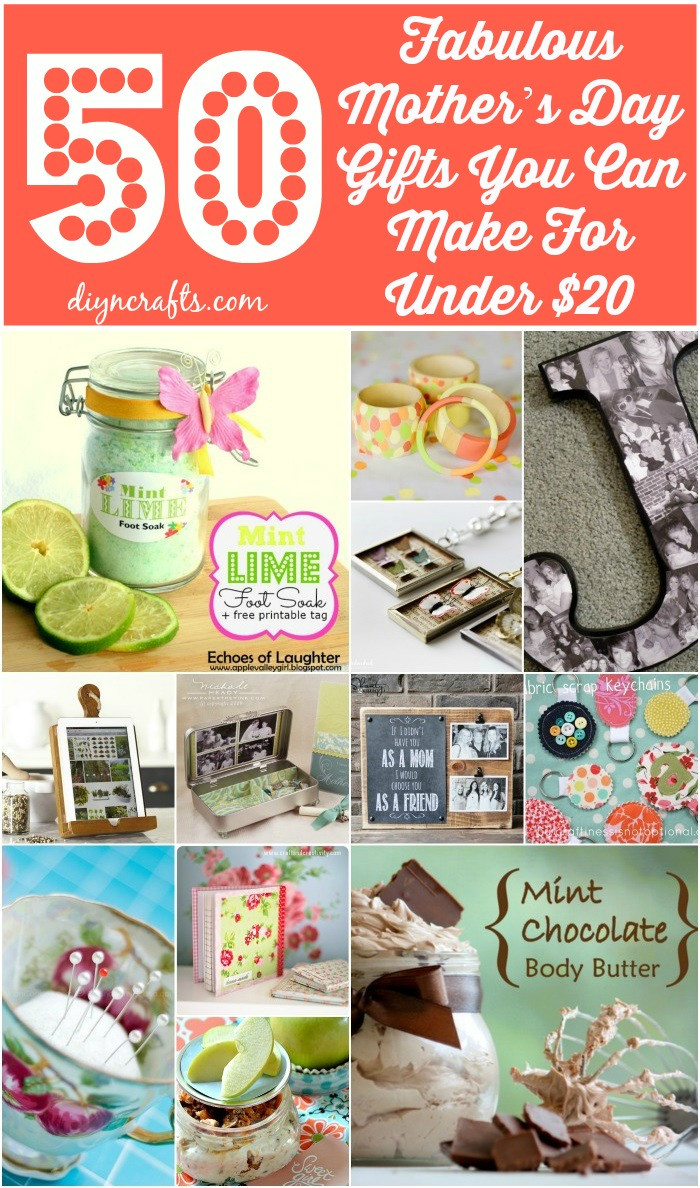 Mother'S Day Gift Ideas DIY  50 Fabulous Mother's Day Gifts You Can Make For Under $20