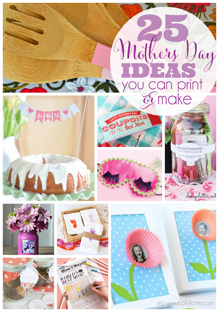 Mother'S Day Gift Ideas From Kids  25 Mothers Day Ideas you can print or make
