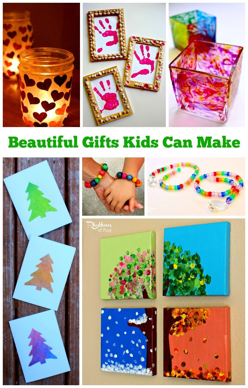Mother'S Day Gift Ideas From Kids  Homemade Gifts Kids Can Make for Parents and Grandparents