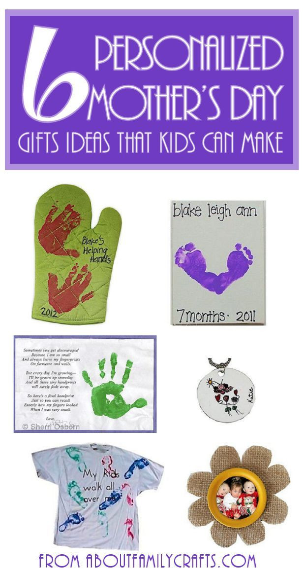 Mother'S Day Gift Ideas From Kids  6 Mother's Day Gifts for Kids to Make e or all of