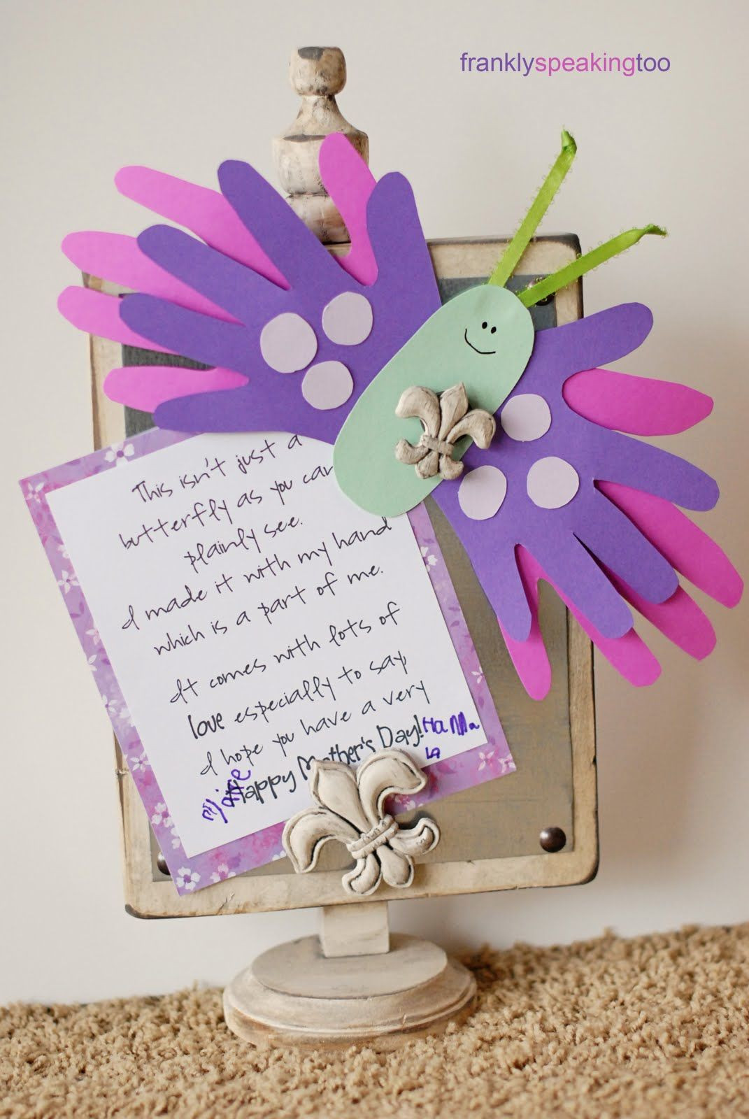 Mother'S Day Gift Ideas From Kids  Frankly Speaking Too iLoveToCreate Butterfly Mother s