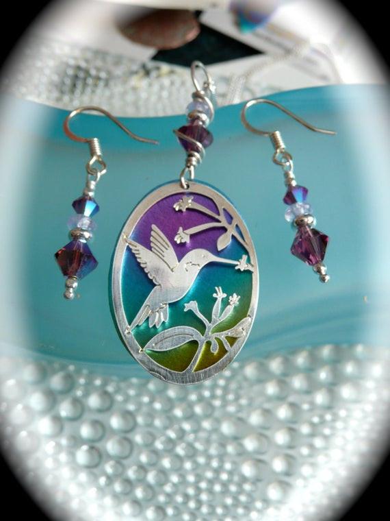 Mother'S Day Jewelry Gift Ideas  Mothers day t hummingbird jewelry set niobium jewelry