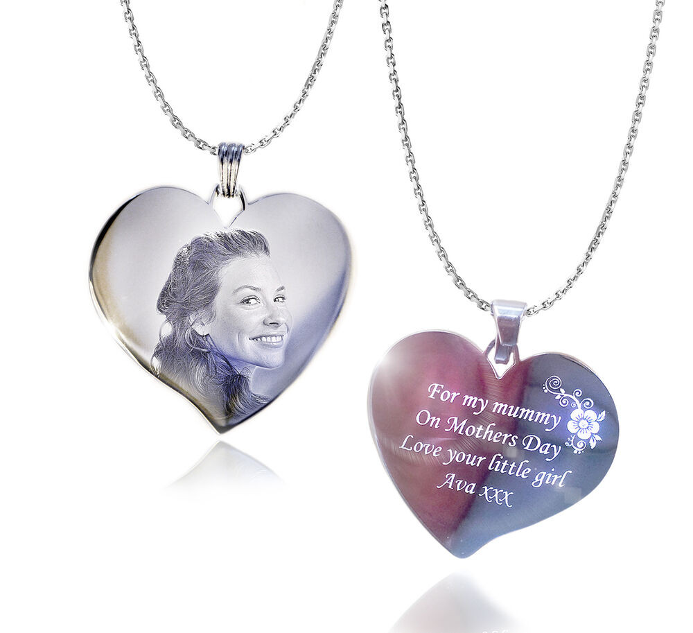 Mother'S Day Jewelry Gift Ideas  Personalised & Text Engraved Heart Necklace