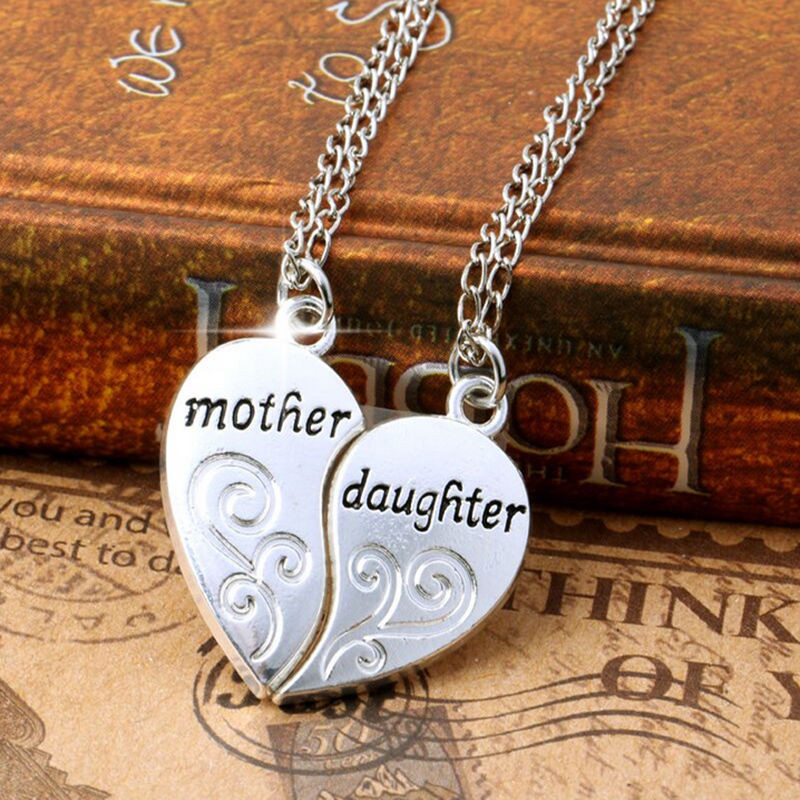 """Mother'S Day Jewelry Gift Ideas  Stylish Charms Silver Mother and Daughter Love """"Mom"""