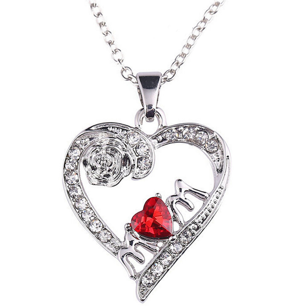 Mother'S Day Jewelry Gift Ideas  Charm Mother s Day Gift for Mom Friend Red Diamond Heart