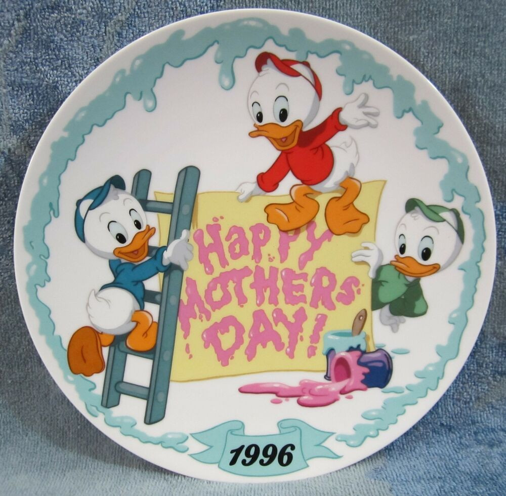 """Mother'S Day Quotes  1996 Happy Mother s Day Plate Disney Huey Dewey Louie """"We"""