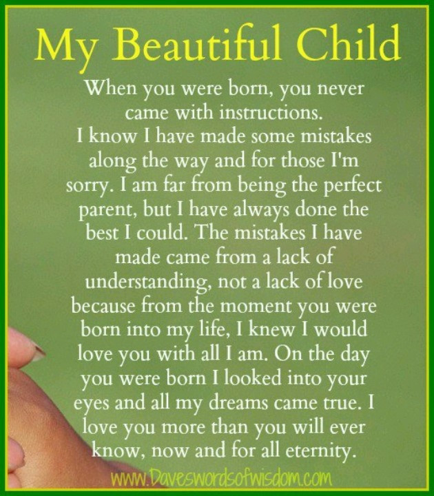 Mother'S Love For A Child Quotes  My beautiful child