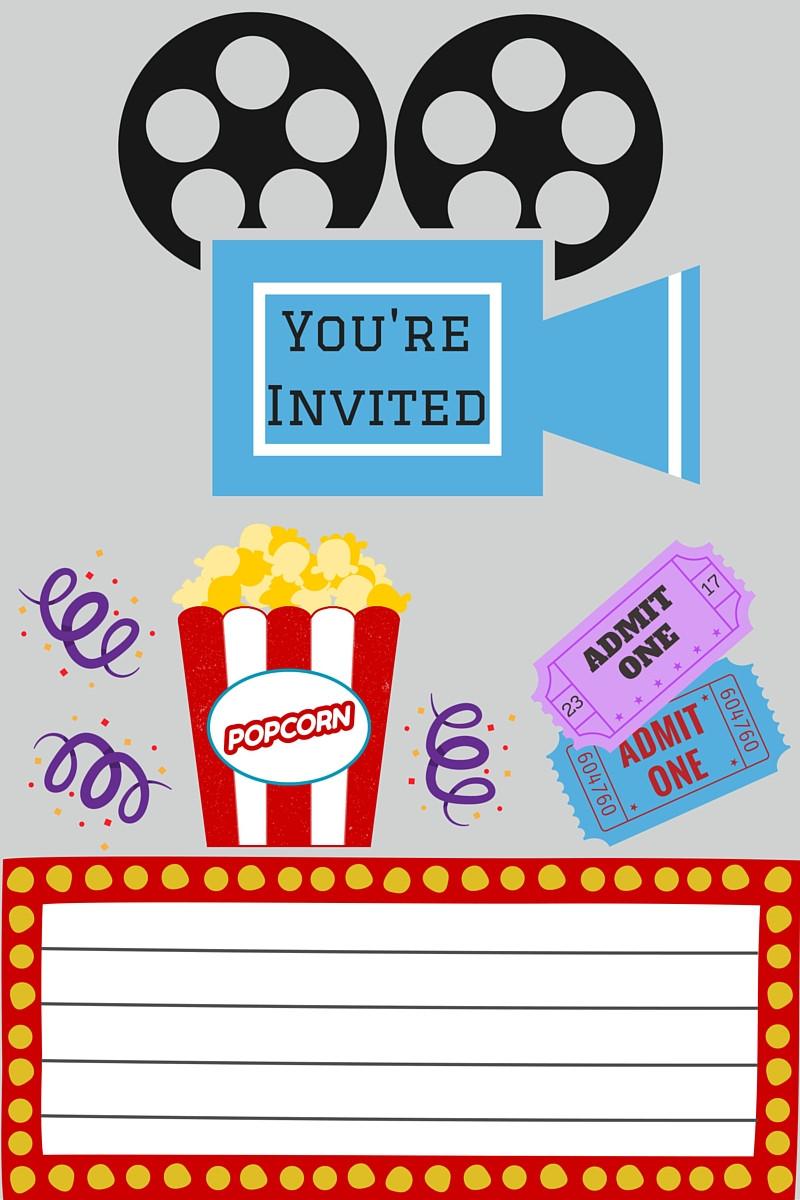 Movie Birthday Party Invitations Printable Free  FREE Printables