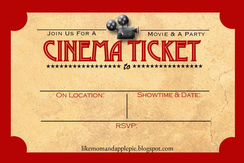 Movie Birthday Party Invitations Printable Free  Favorite Movie Night Party Ideas Decor to Adore