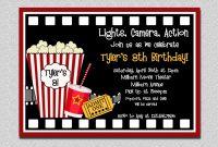 Movie Birthday Party Invitations Printable Free Luxury Movie Birthday Invitation Movie Night Birthday Party