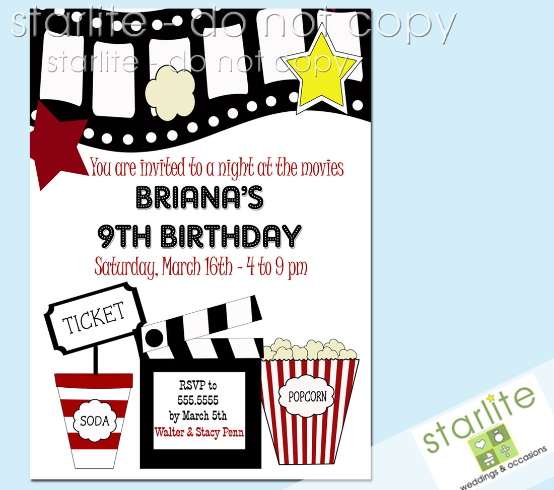 Movie Birthday Party Invitations Printable Free  Free Printable Kids Birthday Party Invitations Templates