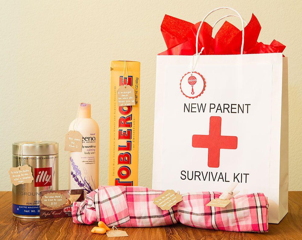 Newborn Baby Gift Ideas For Parents  New Parent Survival Kit Gift Ideas Pinterest