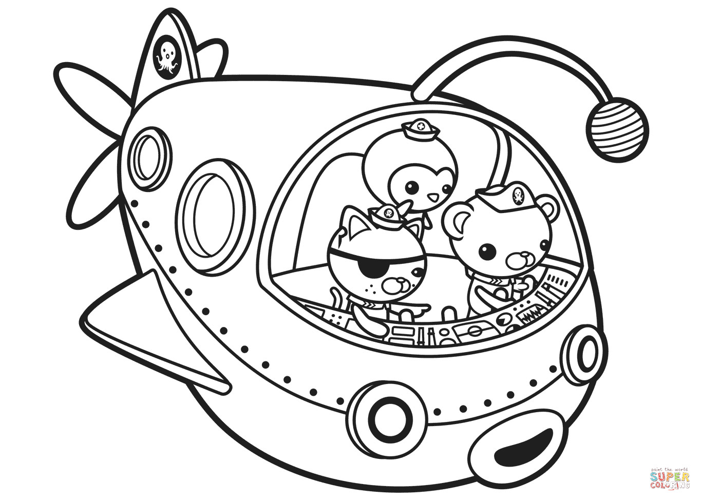 Octonauts Coloring Pages  Octonauts off to Adventure coloring page