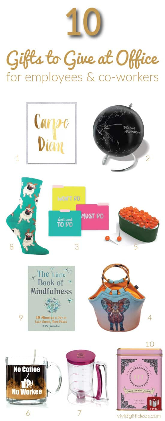 Office Holiday Gift Ideas  Top 10 Christmas Gifts for fice Staff and Coworkers