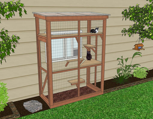 Outdoor Cat Enclosures DIY  DIY Catio Plan The HAVEN™ Catio Plans with 3x6 and 4x8