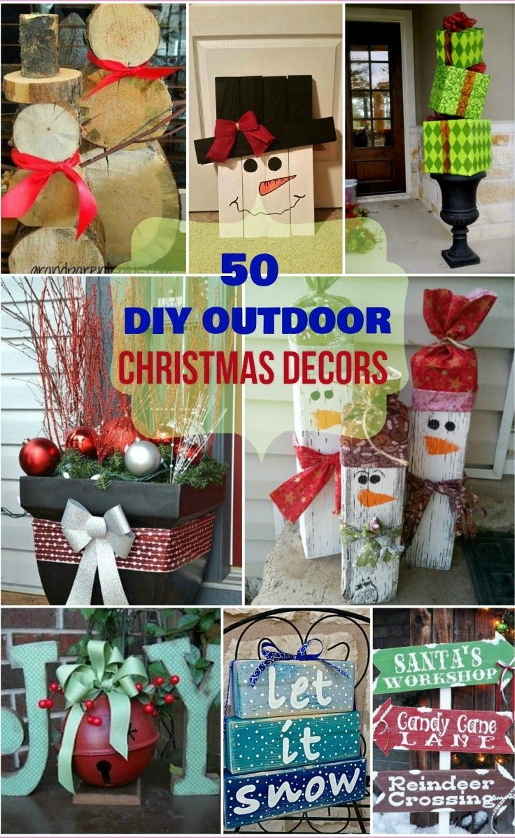 Outdoor Christmas Decorations DIY  Best 25 Outdoor christmas ideas on Pinterest