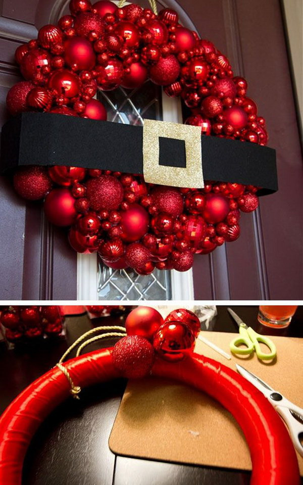 Outdoor Christmas Decorations DIY  20 Creative DIY Christmas Door Decoration Ideas Noted List