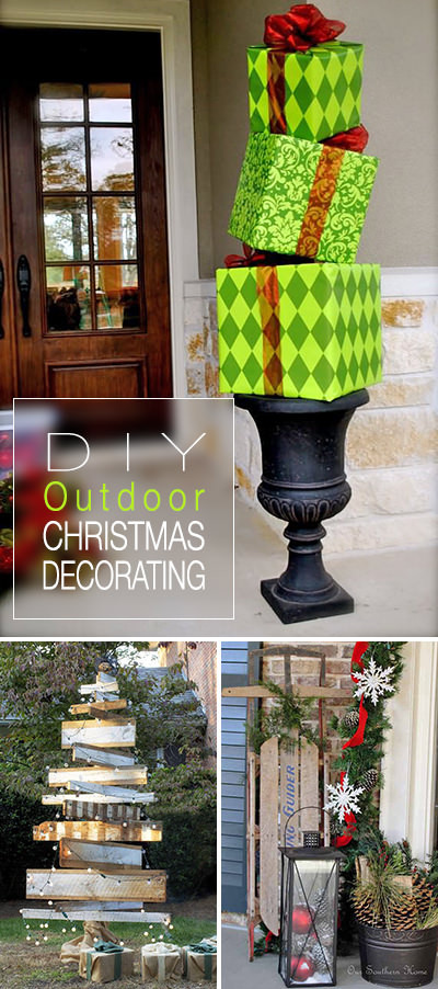 Outdoor Christmas Decorations DIY  DIY Outdoor Christmas Decorating