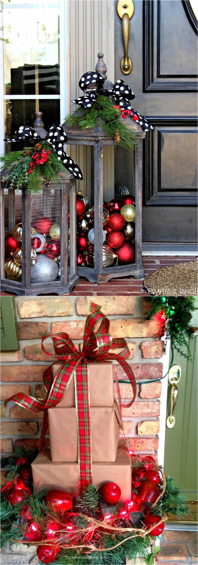 Outdoor Christmas Decorations DIY  Gorgeous Outdoor Christmas Decorations 32 Best Ideas