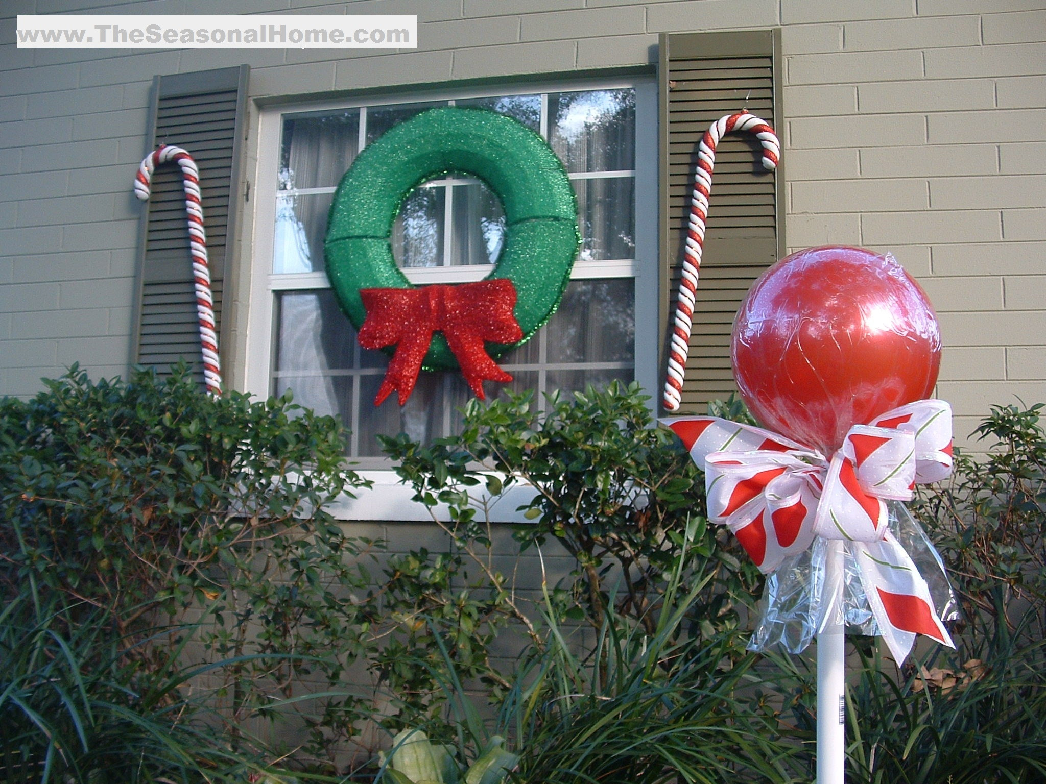 "Outdoor Christmas Decorations DIY  Outdoor ""CANDY"" A Christmas Decorating Idea The"