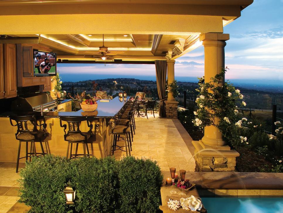 Outdoor Kitchen Designs  22 Outdoor Kitchen Bar Designs Decorating Ideas