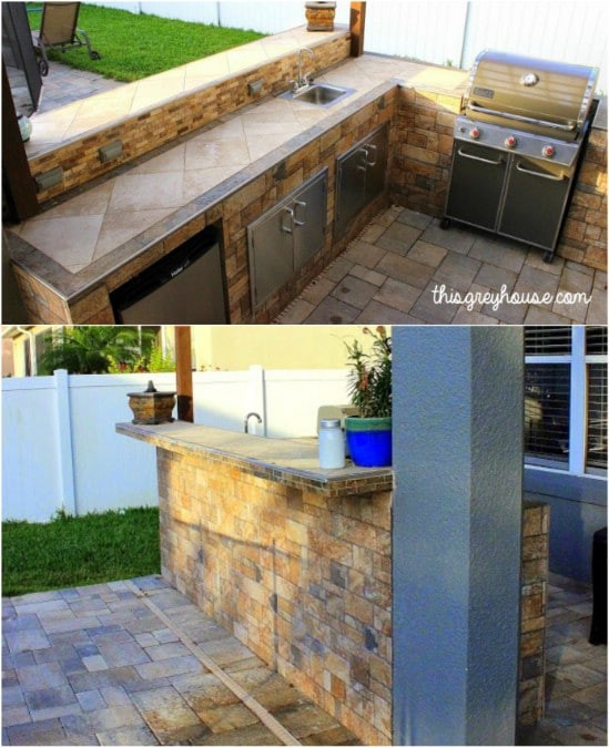 Outdoor Kitchen Diy  15 Amazing DIY Outdoor Kitchen Plans You Can Build A