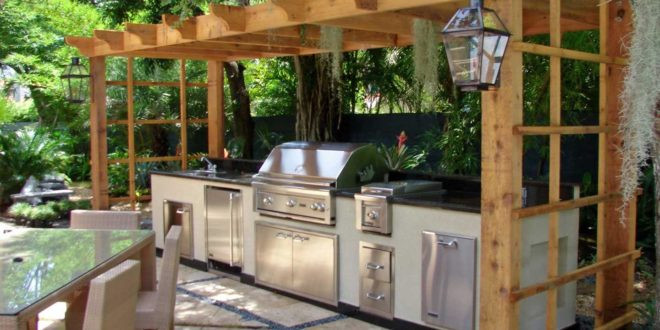 Outdoor Kitchen Diy  17 Outdoor Kitchen Plans Turn Your Backyard Into