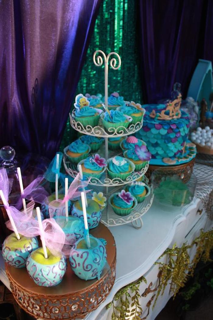 Party Ideas Little Mermaid  Kara s Party Ideas Little Mermaid Birthday Party Ideas