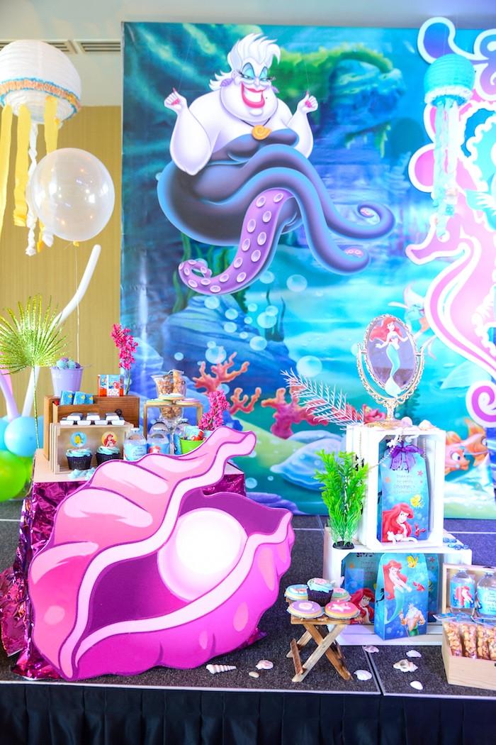 Party Ideas Little Mermaid  Kara s Party Ideas Ariel the Little Mermaid Birthday Party