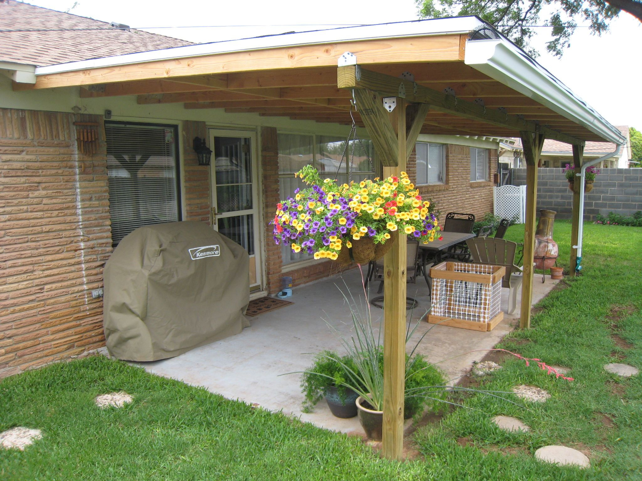 Patio Cover Plans DIY  July 2011 Runner up Winner Patio cover makeover