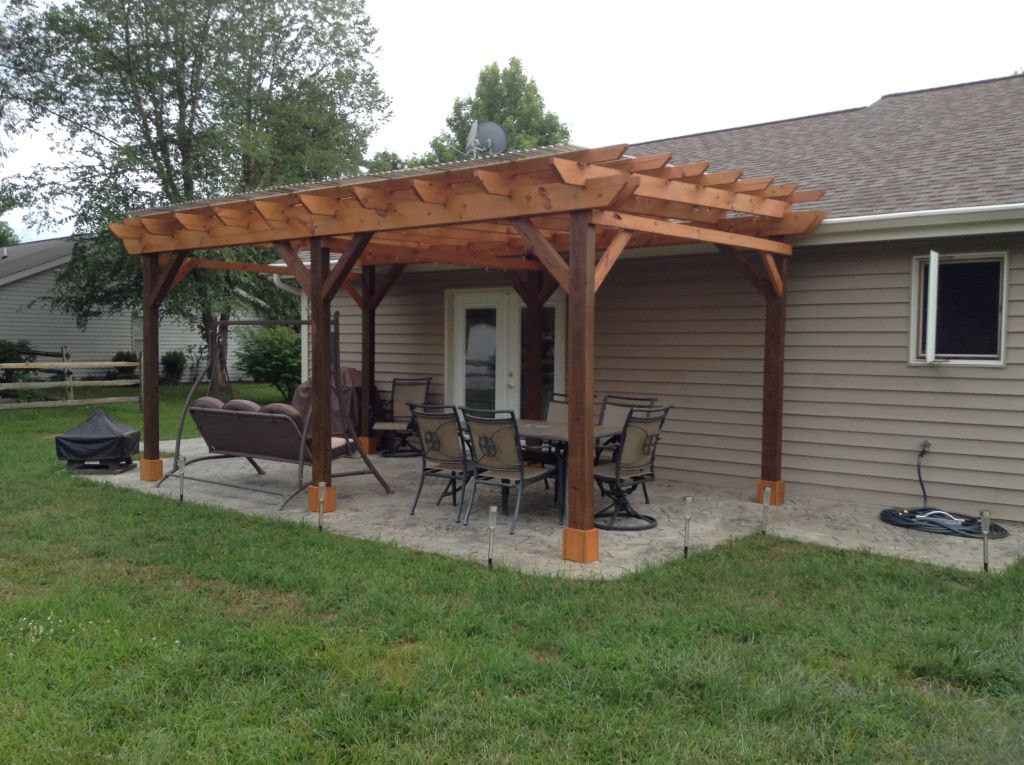 Patio Cover Plans DIY  Covered Pergola Plans 12x18 Outside Patio Wood Design