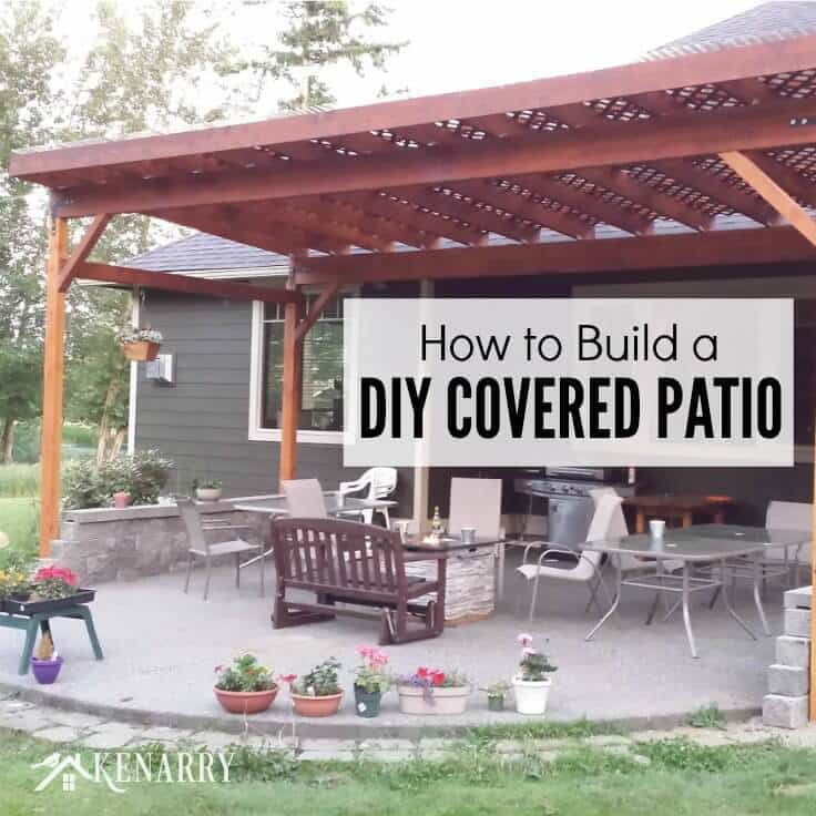 Patio Cover Plans DIY  How to Build a DIY Covered Patio